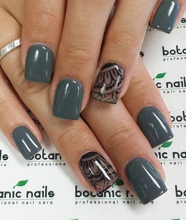 100+ Awesome Green Nail Art Designs | Lace nail art, Lace nails and ...