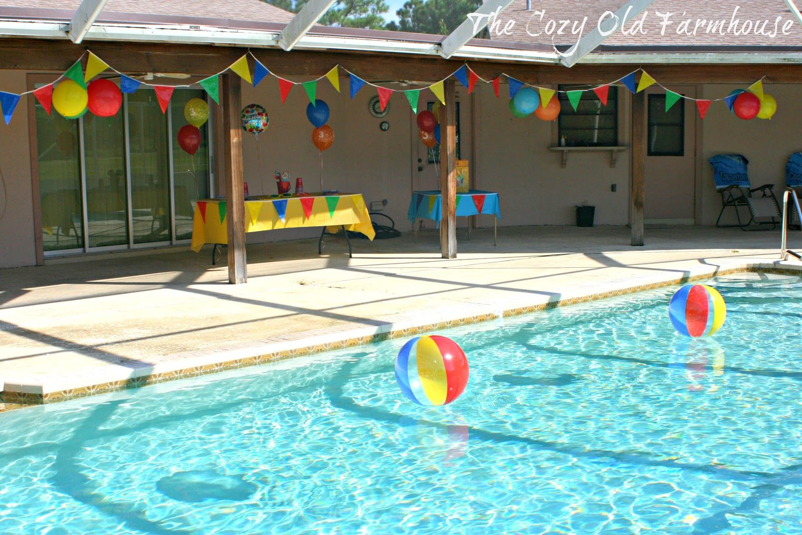 Pool party decorations to make all things sammy - How to make a pool party ...
