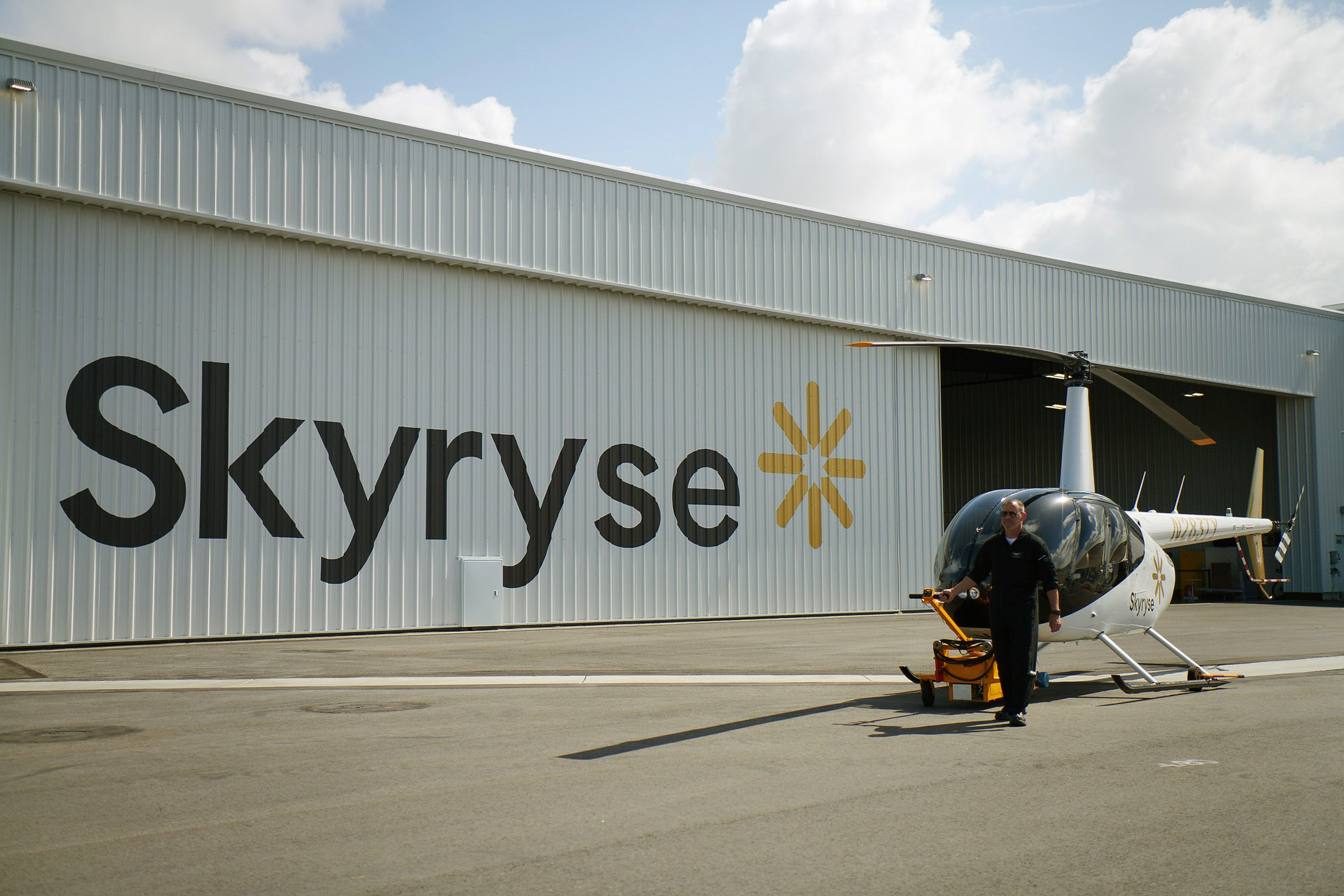 Brand identity for automated air mobility company Skyryse
