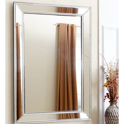 House of Hampton Imelda Rectangle Studded Leaning Floor Mirror ...