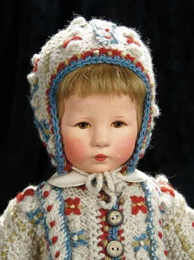 "Soirée: A Marquis Cataloged Auction of Antique Dolls and Automata - May 14, 2016: Lot 223. German Cloth Character ""Hampelchen"" by Kathe Kruse"