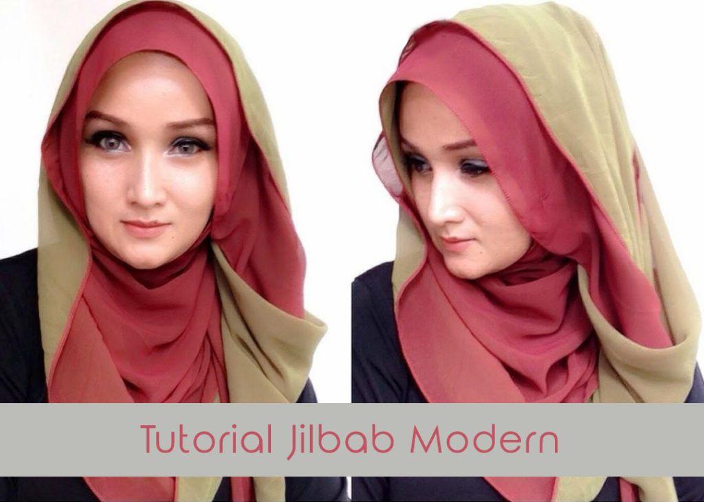 Tutorial Jilbab Pashmina Two Tone Modern dan Simple ...