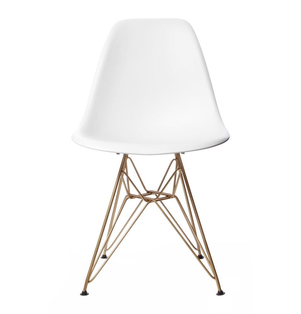 replica eames dsr side chair gold by charles and ray eames matt