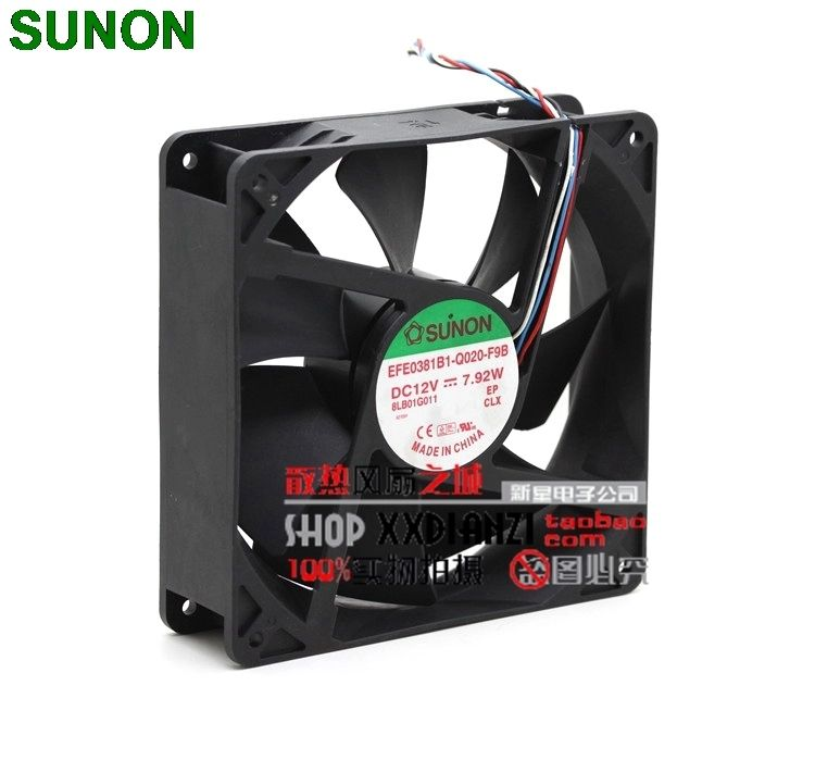 Sunon EFE0381B1-Q020-F9B 12V 14CM 140mm 7 92W PWM server inverter