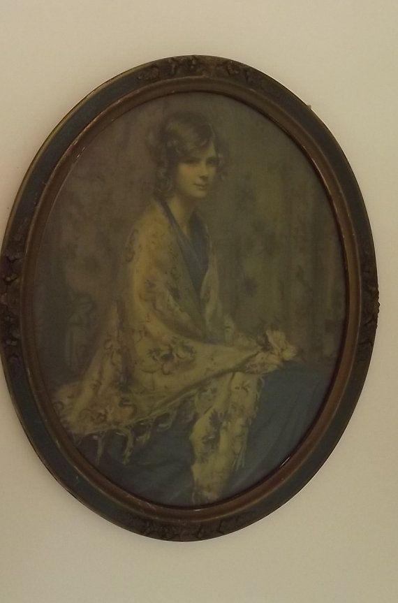 Alice Blue Gown by Arthur Garrett with Hunter Green Gesso/Plaster on ...