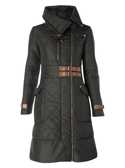 1f58eaac8eb Warm Winter Coats, black quilted, belted knee length coat #minimalist # fashion #style