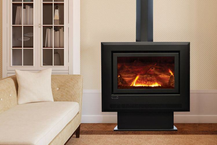 Coonara Grange Series 1 Freestanding Gas Log Fireplace