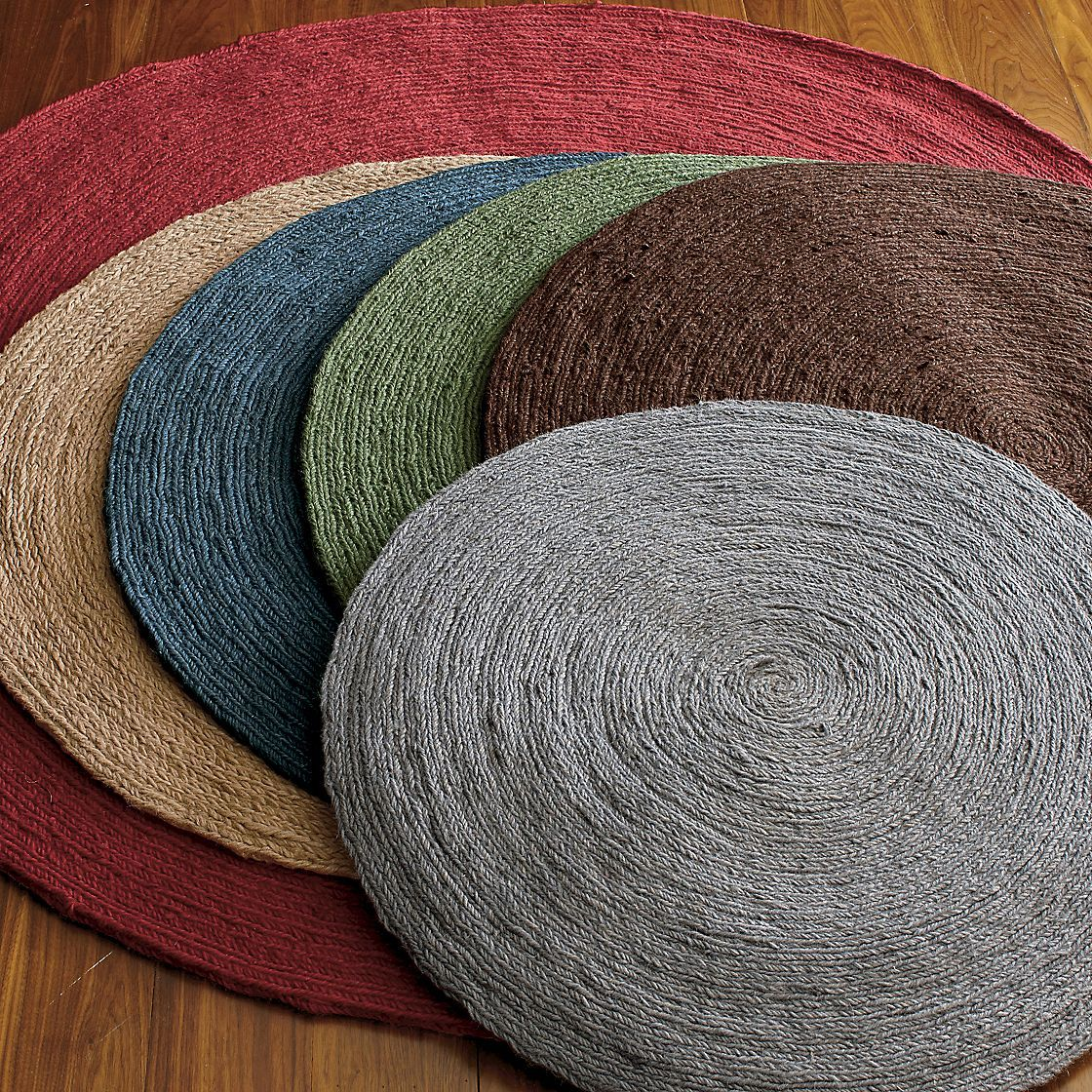 6' gray for under the kitchen table? | jute rug, round