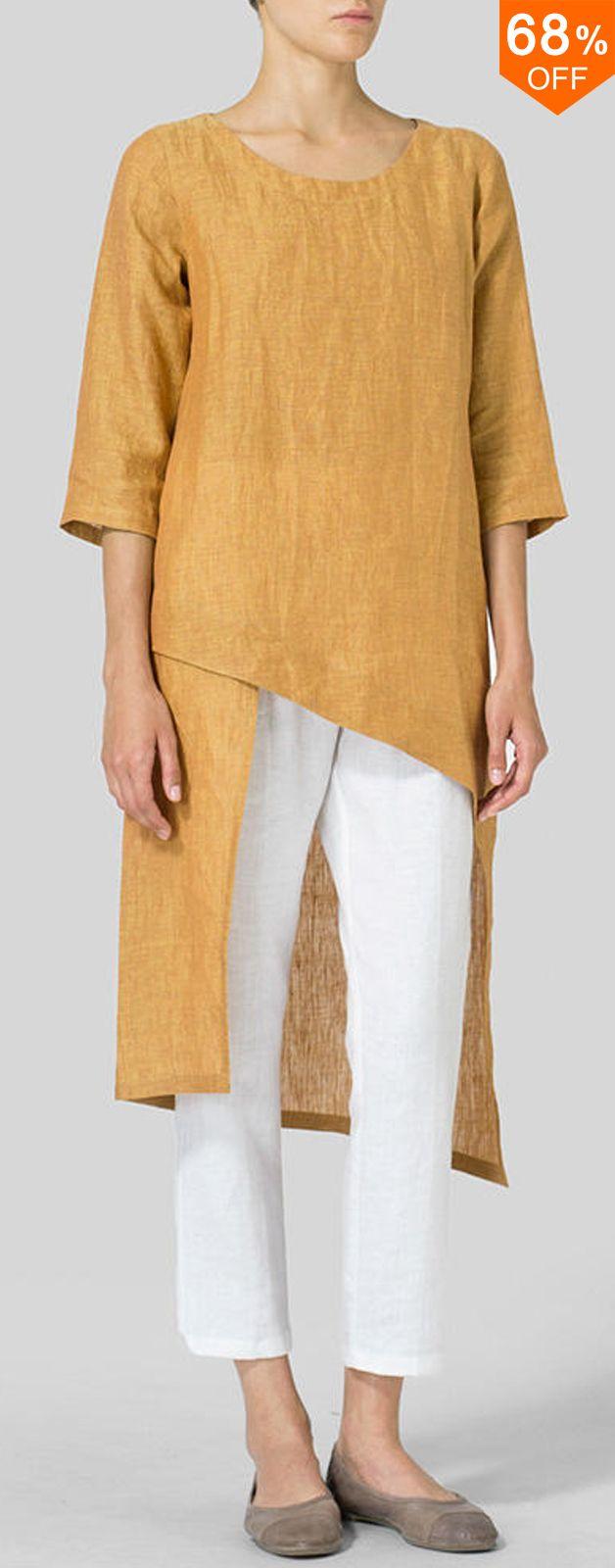 68% off&Free shipping.Plus Size Elegant 3/4 Sleeve Irregular Hem Women Blouse