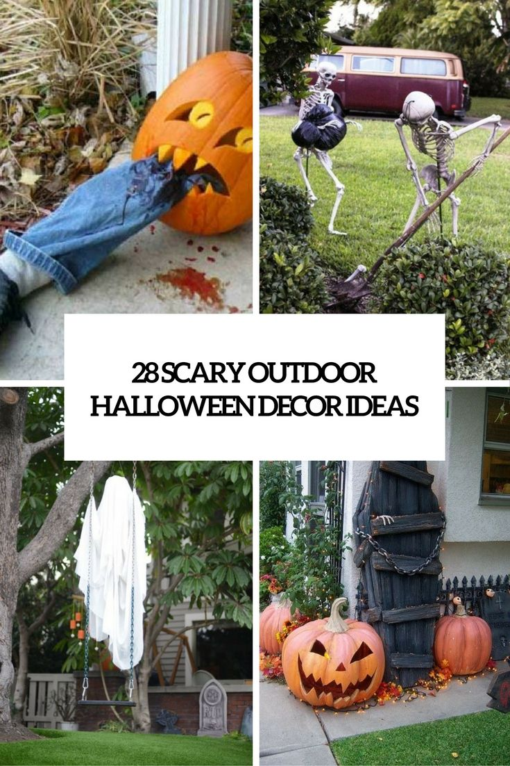 scary outdoor halloween decor ideas cover
