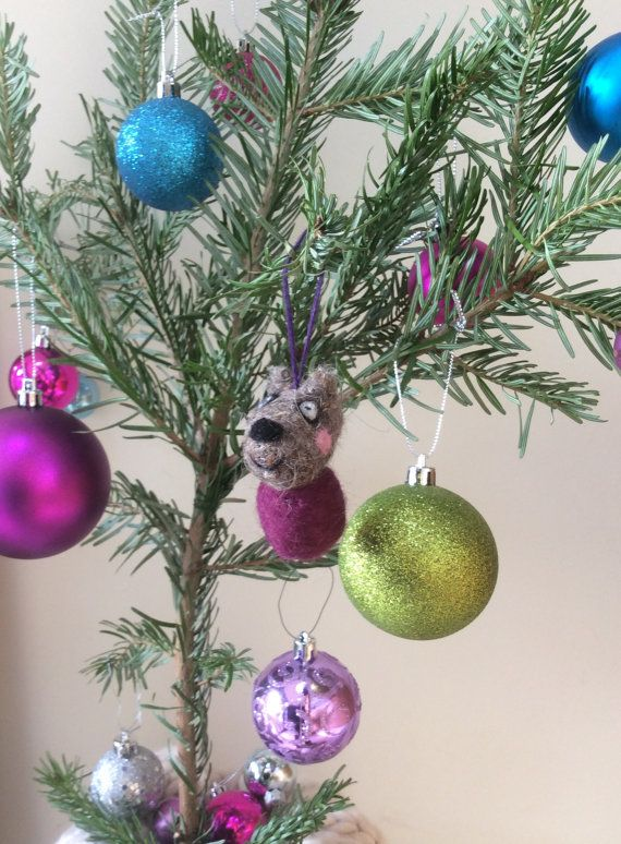 items similar to needle felted peppa pig inspired character danny dog unique handmade christmas tree decorationornamentbauble on etsy