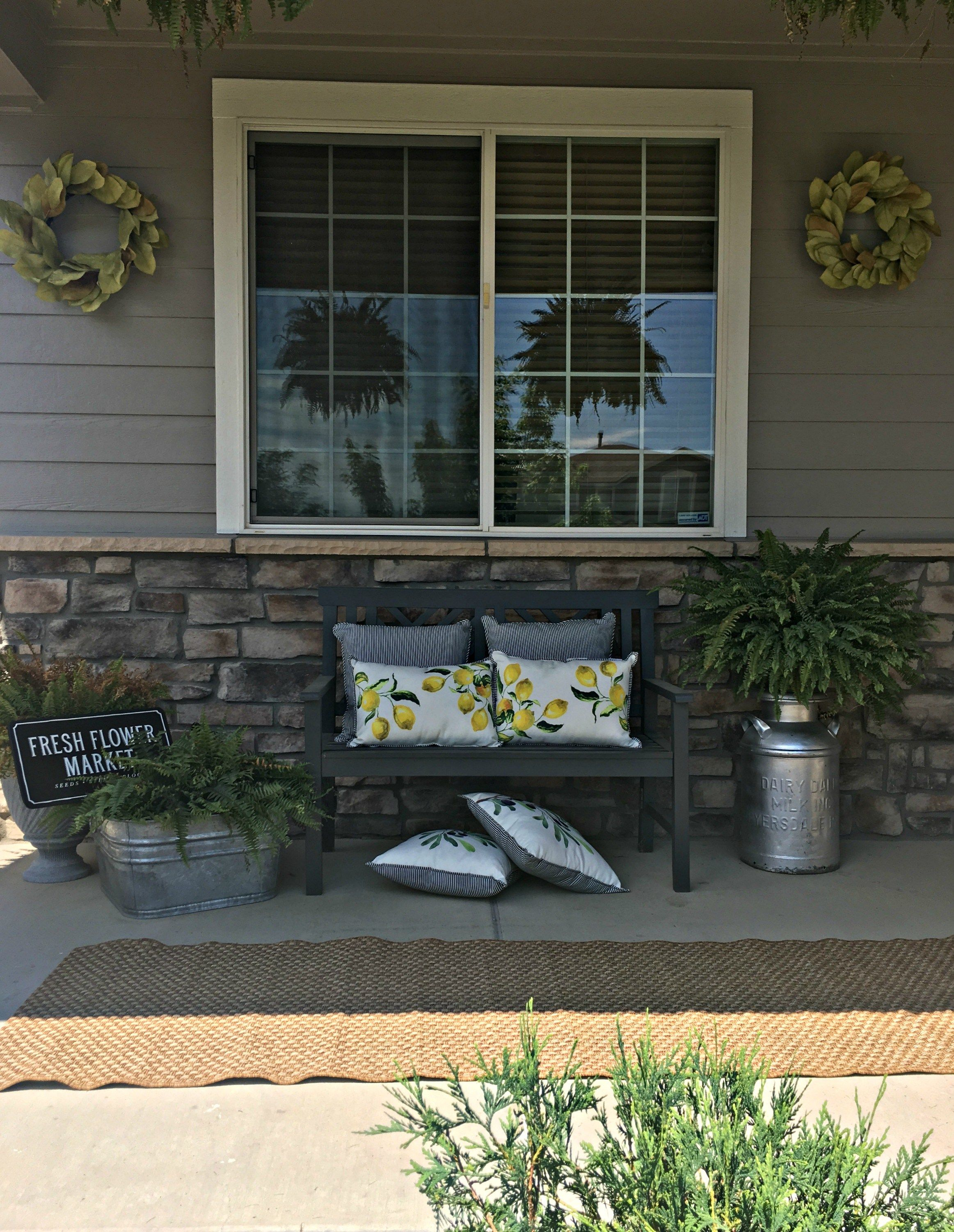 Exterior House Paint And Summer Front Porch Raising Rustic Farmhouse Front Porches Front Porch Design Front Porch Decorating