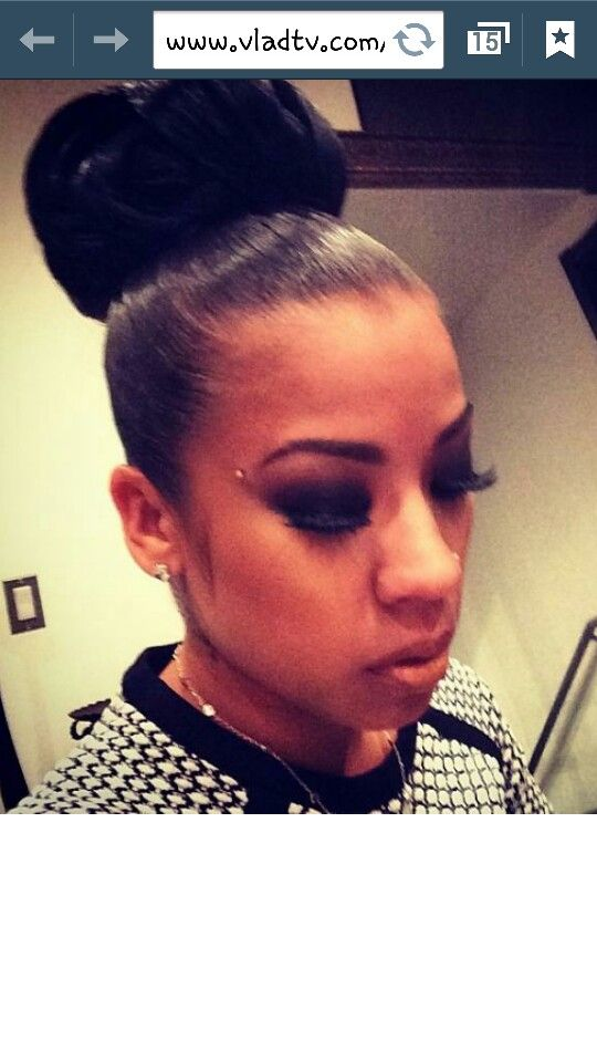 High Bunisha Cole Hairstyles Pinterest High Bun Keyshia