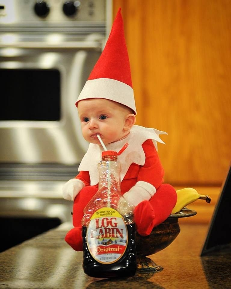 13270c3cf This Baby Elf On The Shelf Is The Cutest Thing This Holiday Season ...