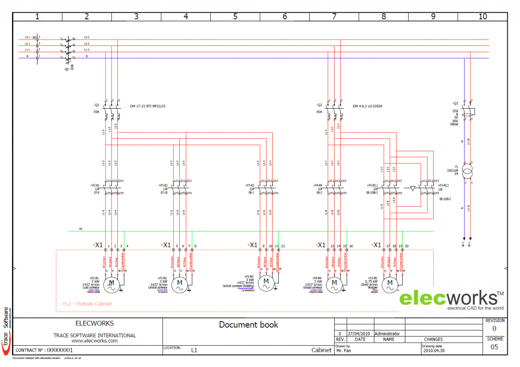 Power Control Schematics In Elecworks Electrical Design Software Software Design Electrical Wiring Diagram