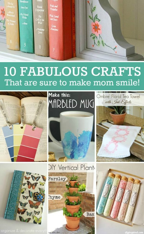 Mothers Day DIY Gift Ideas- Fun and useful gifts that are sure to ...