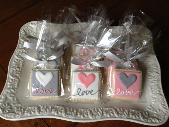 One Dozen Simply LOVE Sugar Cookies. The Colors Are