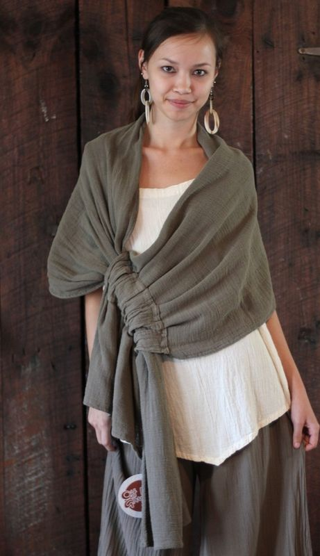 GAUZE Cotton MARIE Lagenlook Wrap Shawl