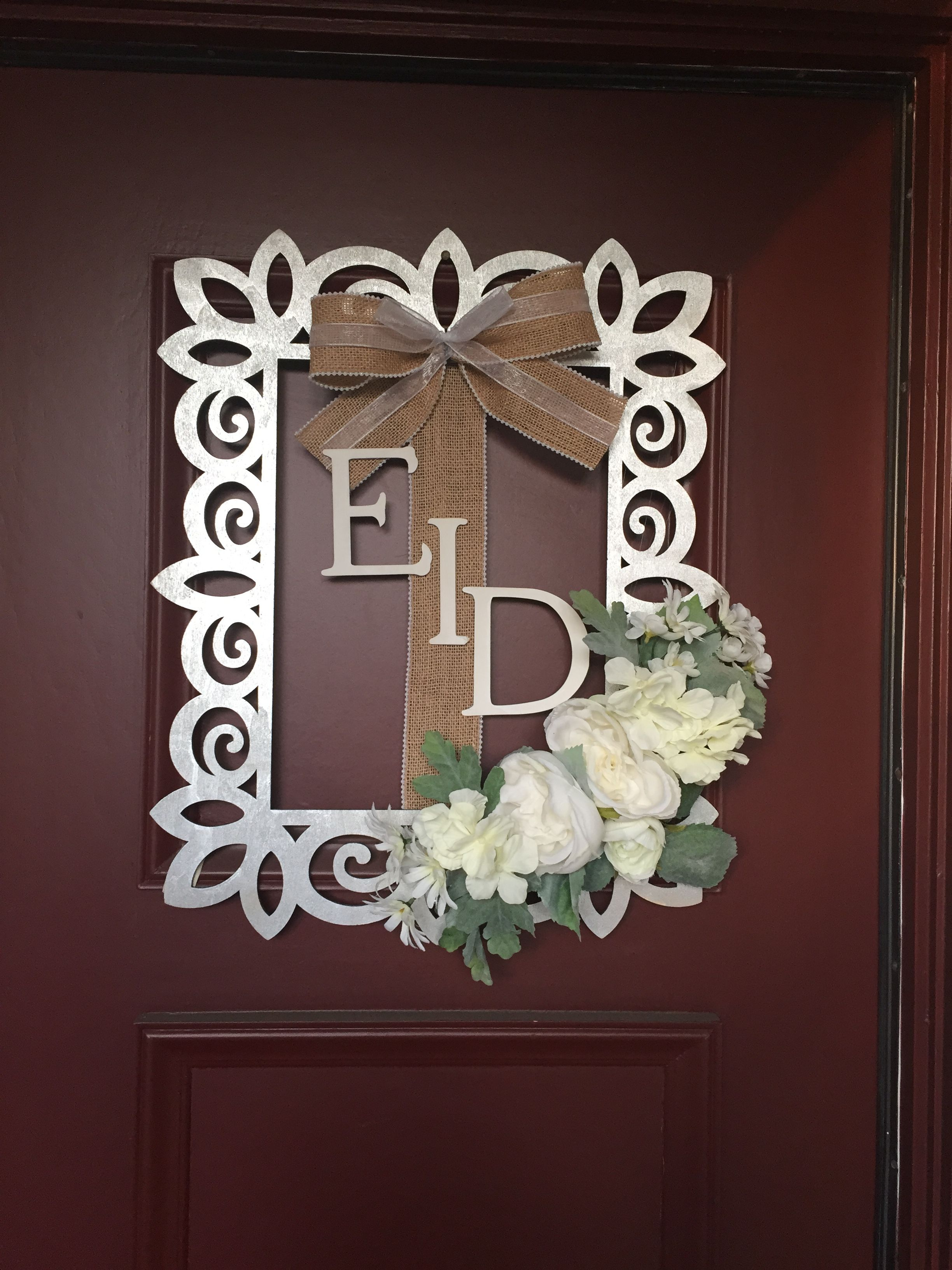 Eid wreath for sale on instagram your name here made for Craft wreaths for sale