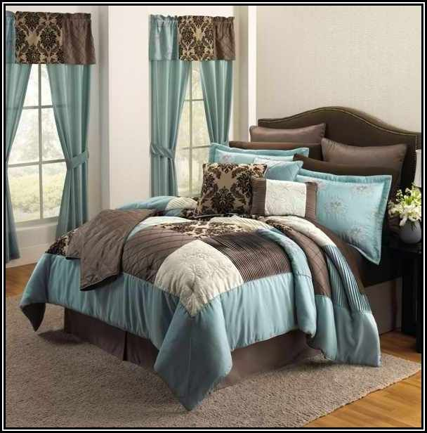 Duck Egg Blue And Brown Bedding Home Home Furnishings Bedroom Decor