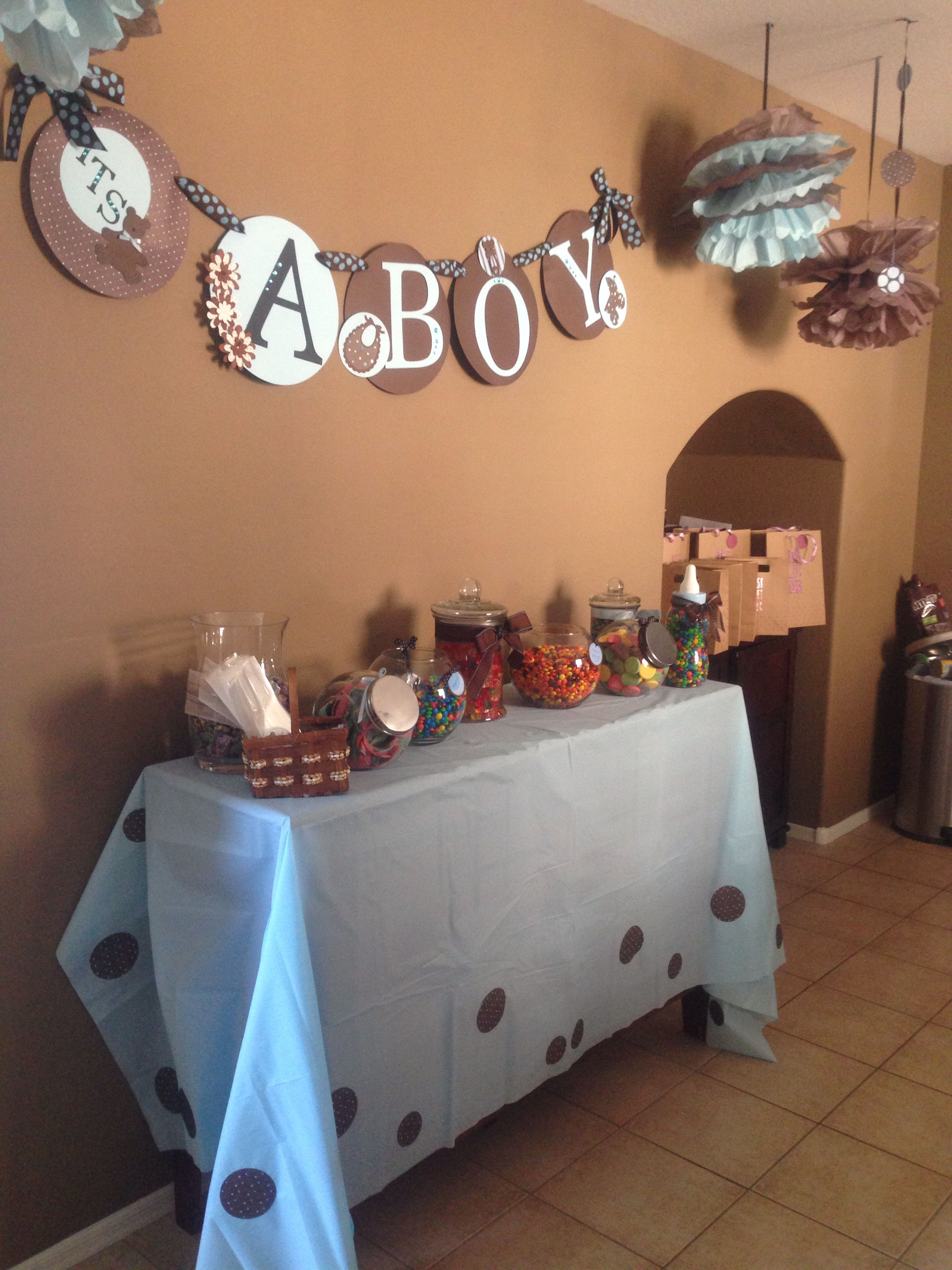 Candy bar/ baby shower it's a boy