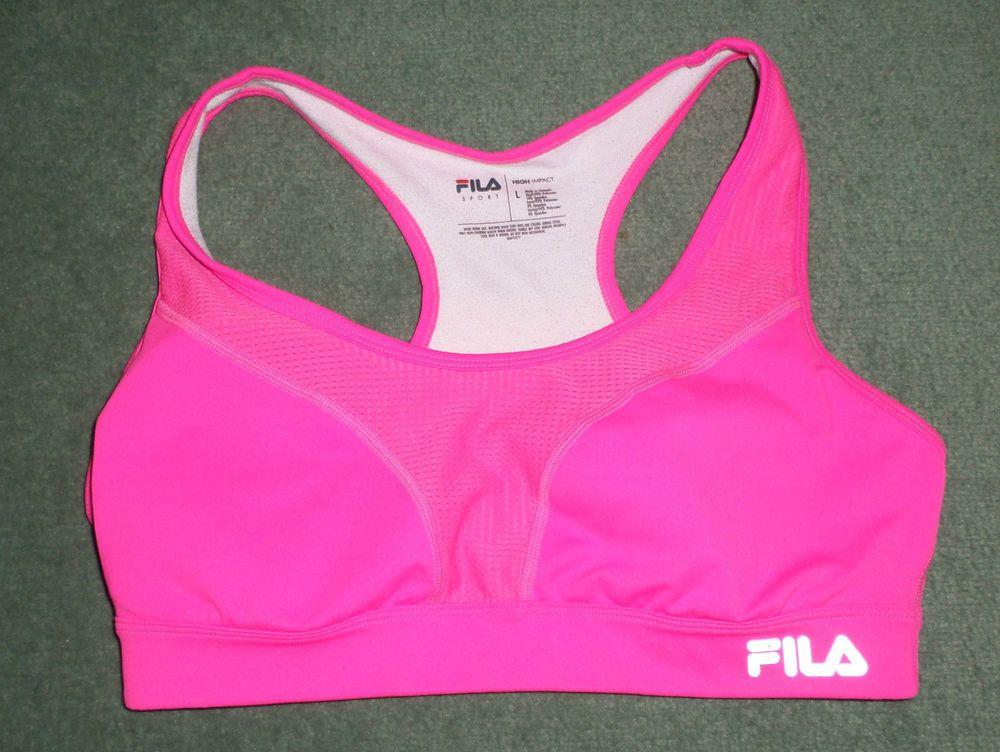 Women's Hot Pink FILA SPORT HIGH IMPACT Running Athletic