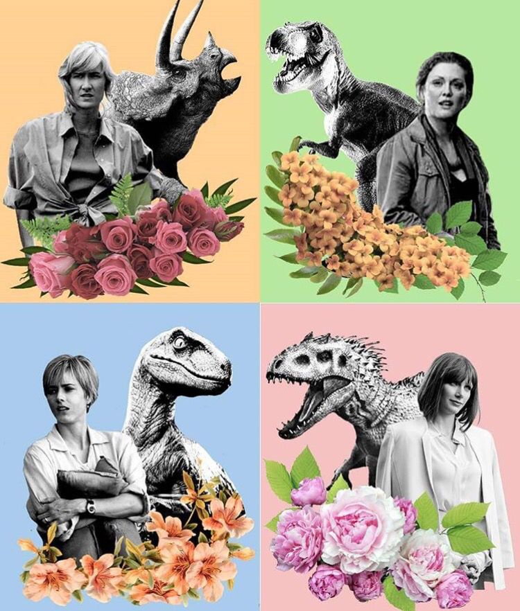 Jurassic Park and World collages, I am in love!