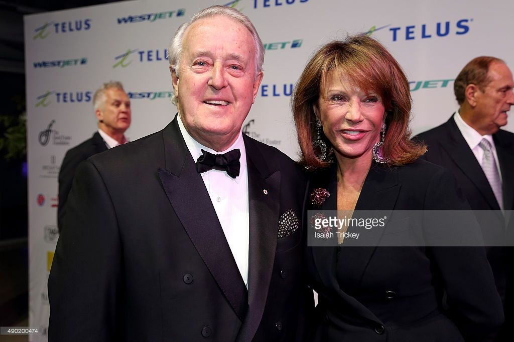 Former Canadian Prime Minister Brian Mulroney And Wife Mila Mulroney Brian Mulroney Mila Mulroney Wife