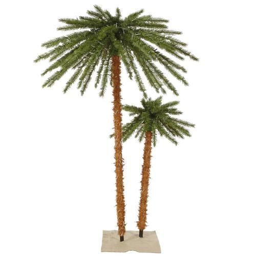 6 Pre Lit Tropical Palm Tree Artificial Christmas Tree Clear