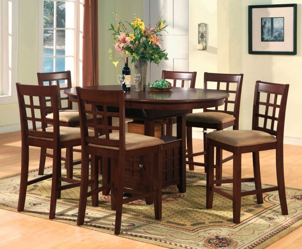 Bar Dining Room Table Bar Height Dining Room Chairs  Table Dining  Pinterest  Bar
