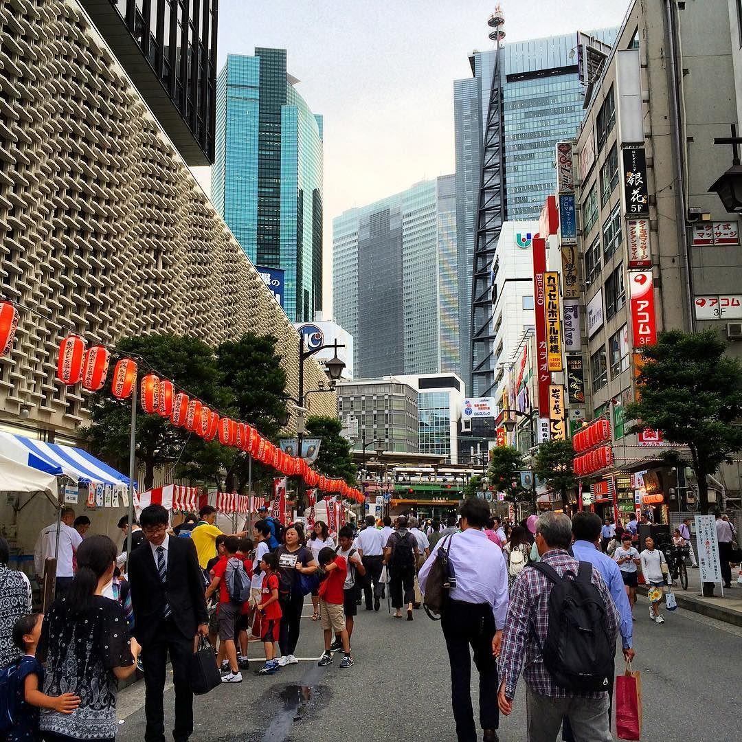 先週の新橋こいち祭の様子都心部の駅前とは思えないような賑わいで新橋ならではという感じがする#shinbasi #festival #tokyo