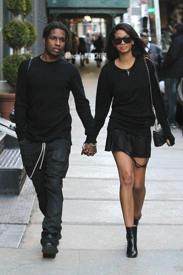Asap Rocky and Chanel Iman Fashionable Couple