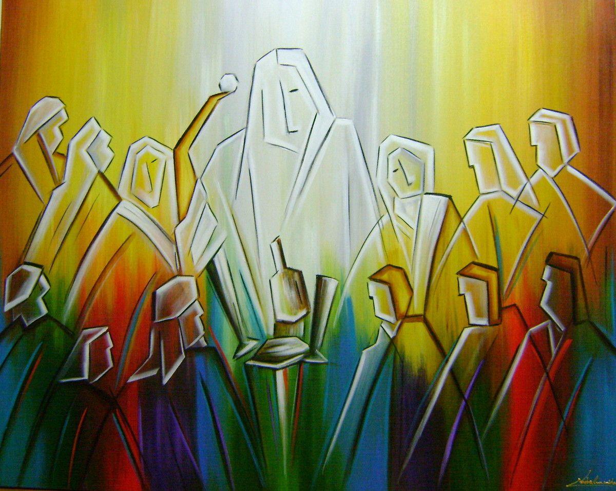 Quadro Pintura A Mão Santa Ceia 80x100 Cod 831 | Pinterest