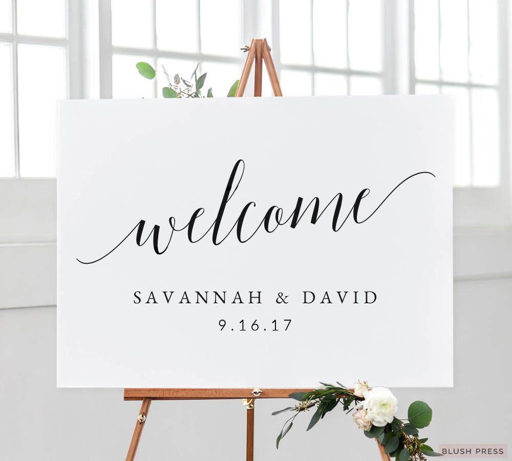Wedding Welcome Sign Template   Printable Welcome Wedding Sign   DIY ...