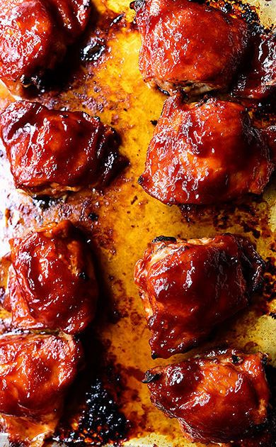 how to cook bbq chicken thighs