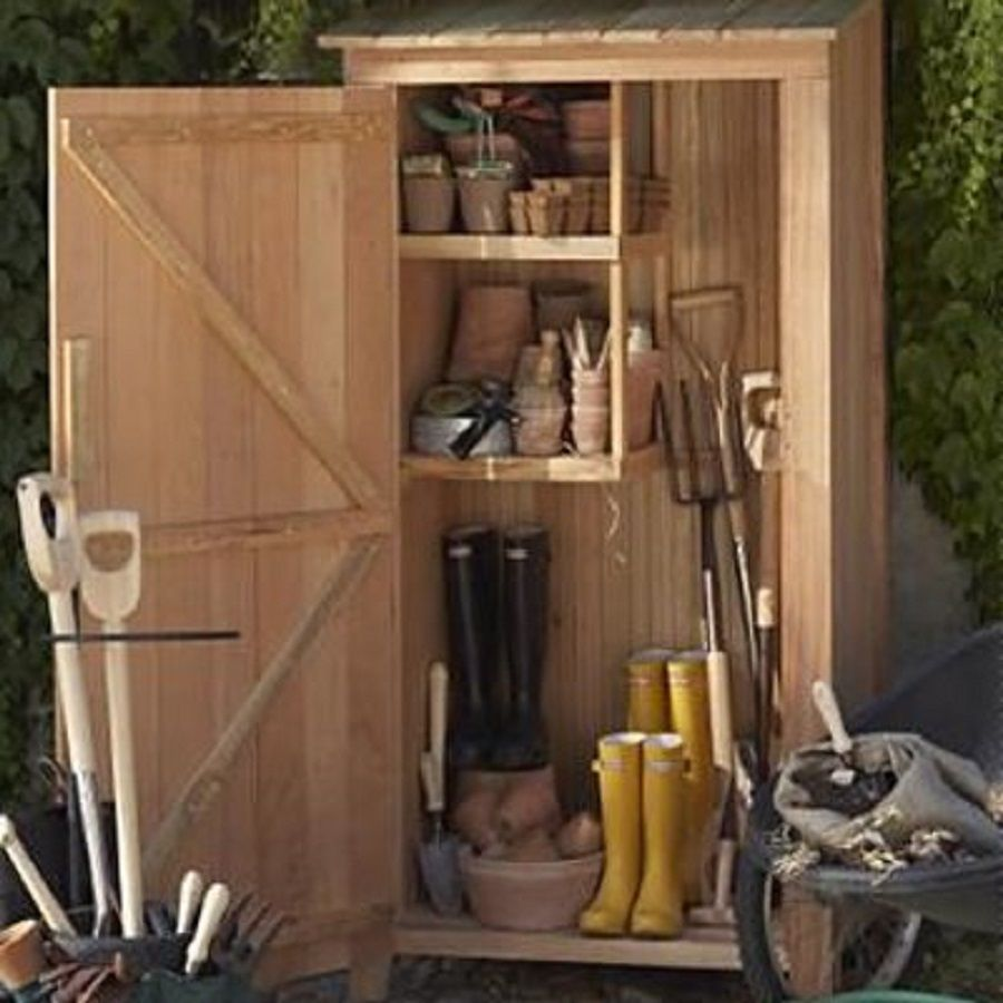 All Things Cedar Lean To Cedar Wood Storage Shed (Common: 3 Ft