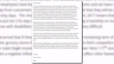 Mayor Jackson responds to Giant Eagle closures   WKYC.com
