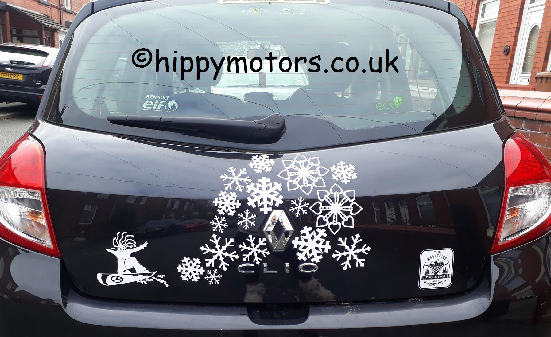 Snow Boarder Vinyl Hippy Dude Sticker For Vehicles And Snowboards Funny Bumper Stickers Snowflake Sticker Vinyl Car Stickers [ 1097 x 1795 Pixel ]