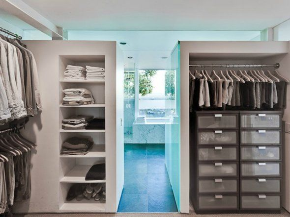 Bathrooms And Walk In Closets Connected The Walk In Closet Leads