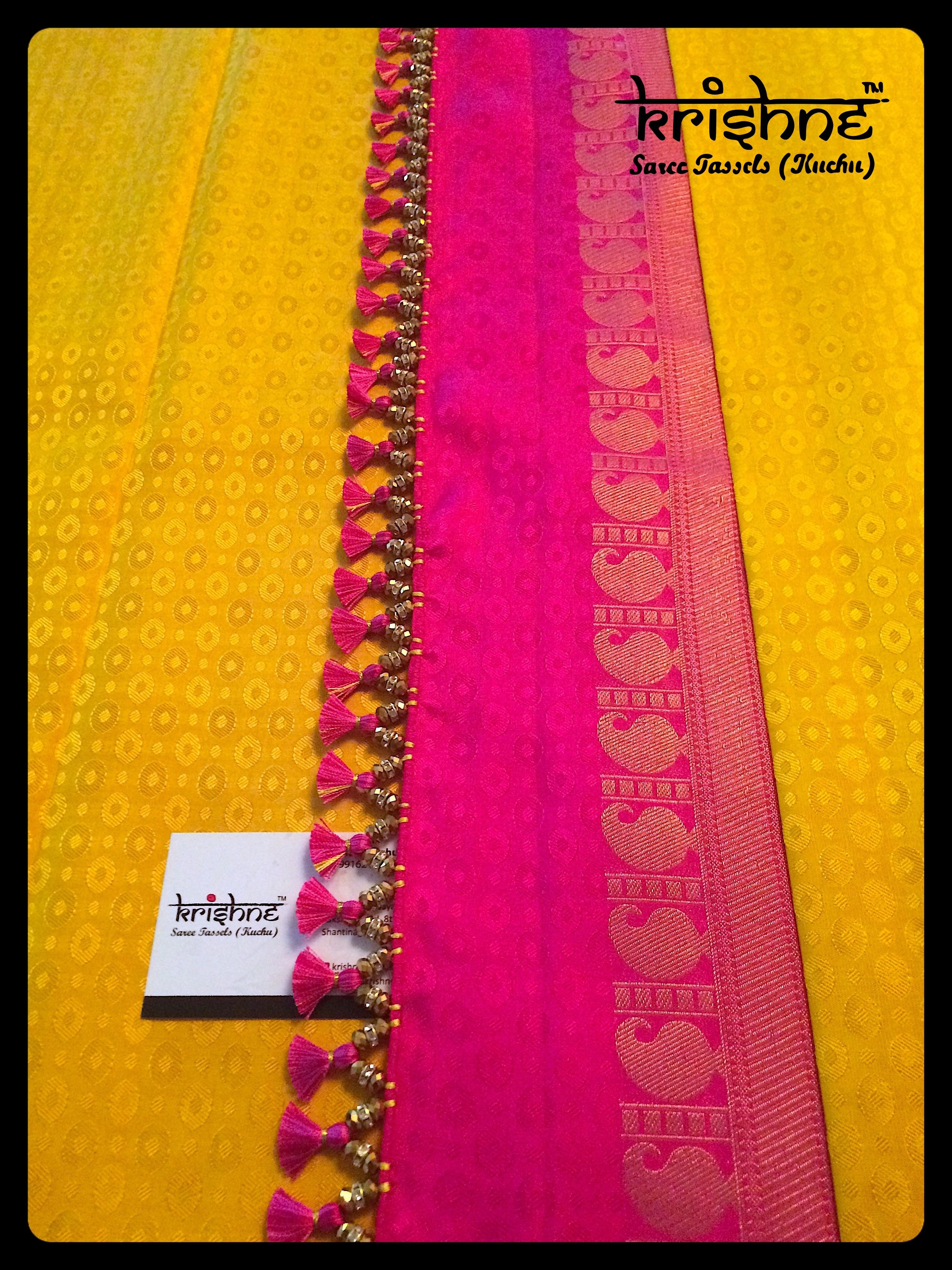 209e6d49feb35e Best Tassel Kuchu From Krishne™ | Saree in 2019 | Saree tassels ...