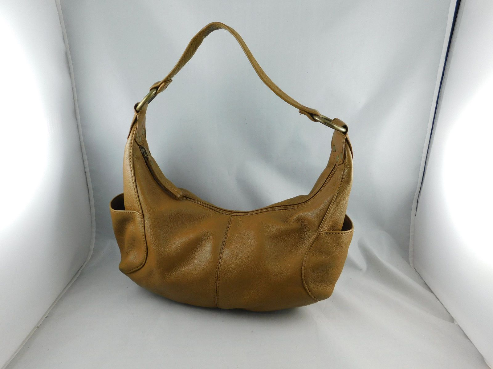 Hobo International Brown Leather Handbag Shoulder Bag Side