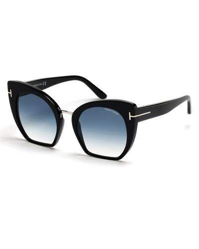 54eb6e69982b5 Samantha Cropped Cat-Eye Sunglasses