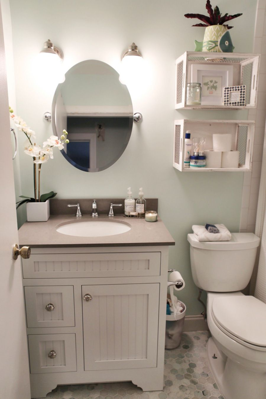 Pin by Melynda Boehm on Home | Bathroom, Small bathroom, Small ... Half Bathroom Designs For Small Bathrooms Html on examples of decorated bathrooms, linen closet designs for bathrooms, paint colors for small bathrooms,