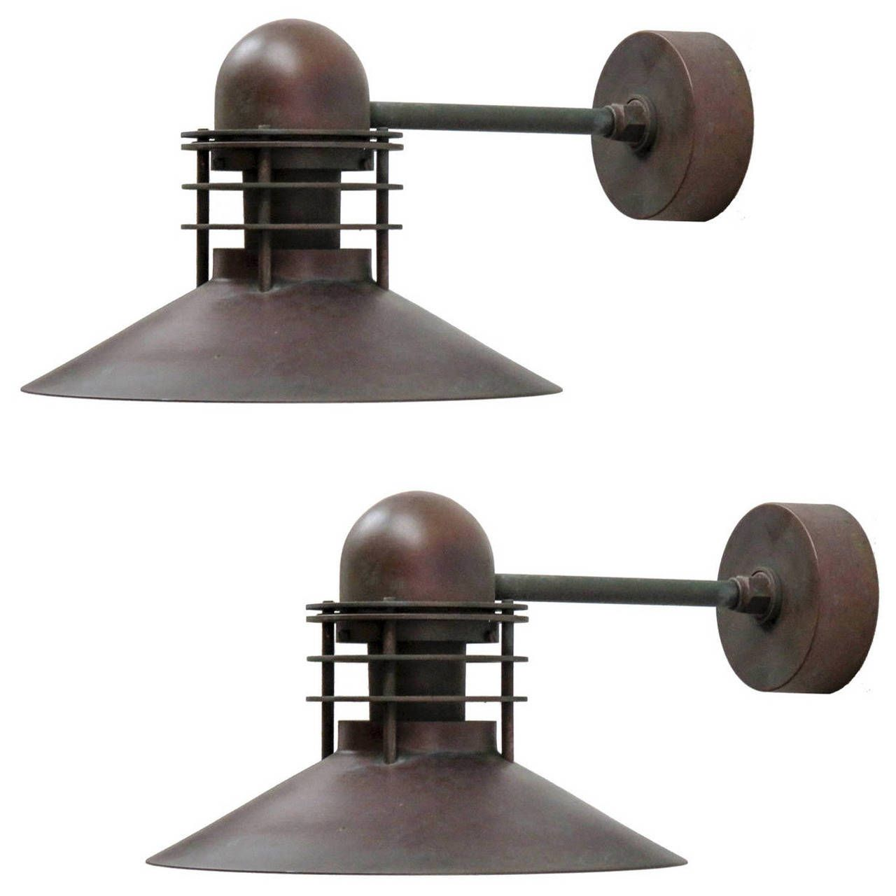 Louis Poulsen Copper Outdoor Lamps | From A Unique Collection Of Antique  And Modern Wall Lights