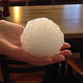 Monster Hail Storm Hits Granbury Texas Photos Hail Storm