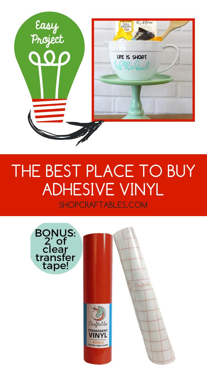 Adhesive Vinyl Rolls For Cricut Permanent Vinyl 12in X 10ft By Craftables Adhesive Vinyl Vinyl Rolls Craftables