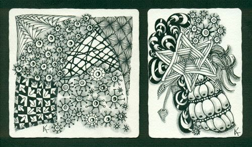 Kate S Beautiful Completed Zentangle And Atc Featuring Widgets