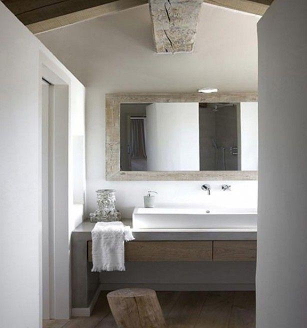 Natuurlijke materialen in de badkamer! | Home Items | Pinterest ...