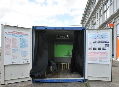 © Frédéric Desmesure - «L'art dans la ville», Le Container baladeur, jusqu'au 27 septembre.www.frac-aquitaine.net - Container mobile - JP#04