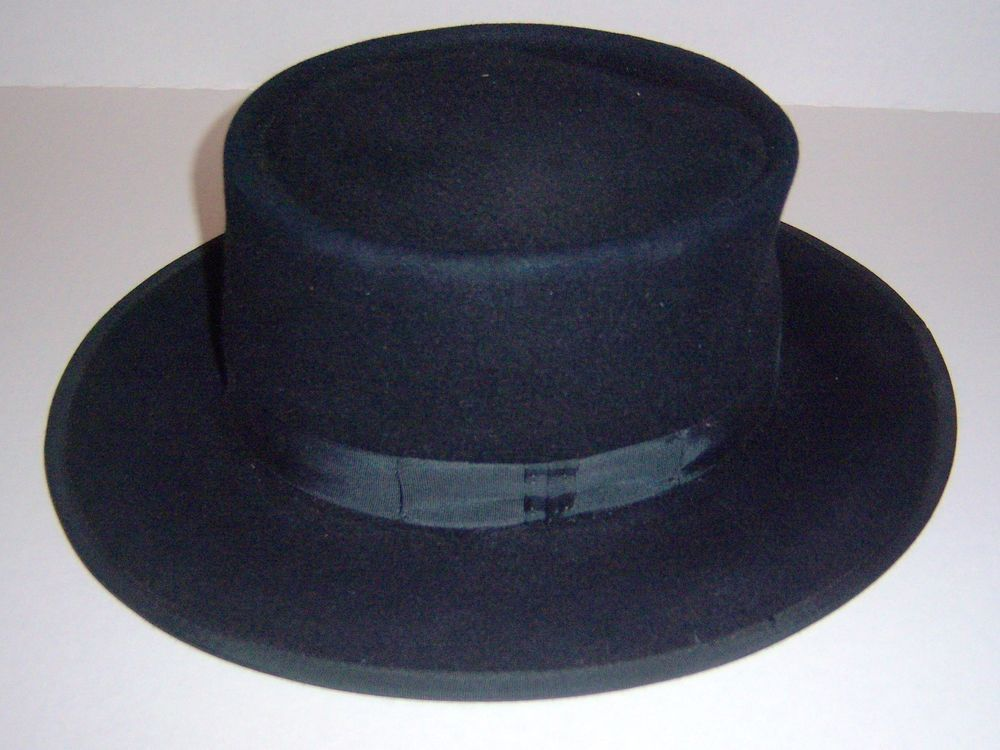 99360beabe2 Amish Men s Black Felt Fur Hat Flying Cloud Hat Amish Made PA. 7 1 2  X-Large  Pa Amish
